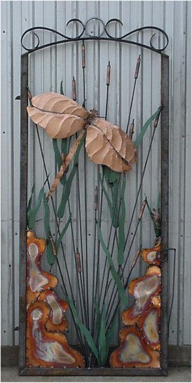 Copper Dragonfly Gate